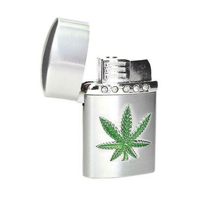 Slick Pot Leaf Design Tobacco Torch Lighter - USA Seller