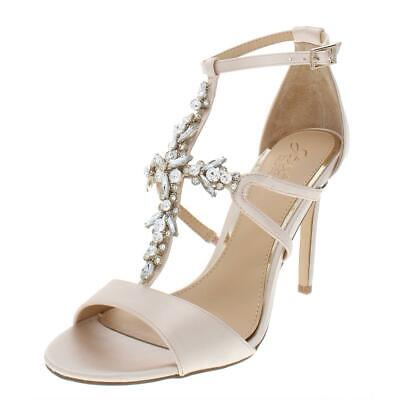 4cb534d1f JEWEL BADGLEY MISCHKA Womens Galvin Beige Evening Sandals 7.5 Medium ...