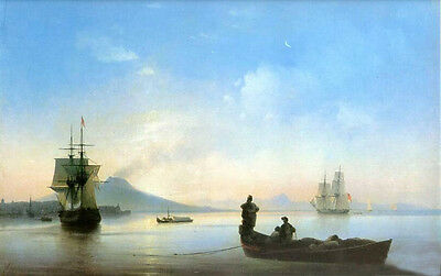 Oil Ivan Constantinovich Aivazovsky - The Bay of Naples on morning - Seascape