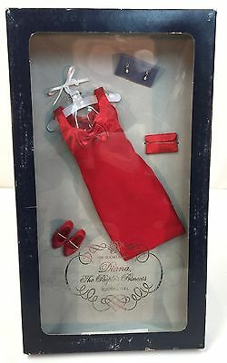 """FRANKLIN MINT PRINCESS DIANA High Fashion Red Bow Outfit Ensemble for 16"""" Doll"""