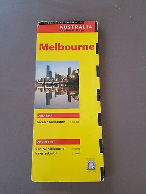 1997 PeriPlus Travel Road Map of Melbourne