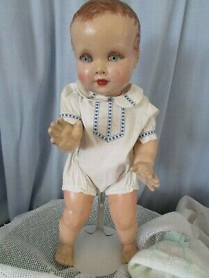 """German Toddler 16"""" Face Bright Rosy Cheeks &mouth- Good Hair Mk Drs&co/lo Rare!!"""