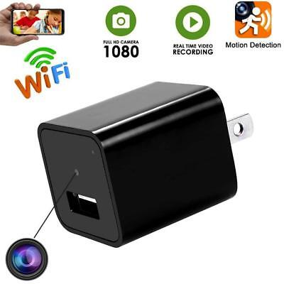HD 1080P Spy Camera USB Wall Charger Mini AU Plug AC Adapter Nanny Cam Monitor