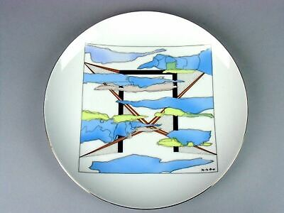 Japanese Porcelain Charger Vtg Arita ware Display Plate 1990 Signed TB462