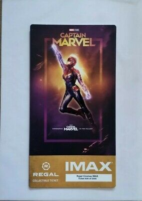 Captain Marvel Imax Collectible Movie Ticket Limited Sold Out Free Poster Code!