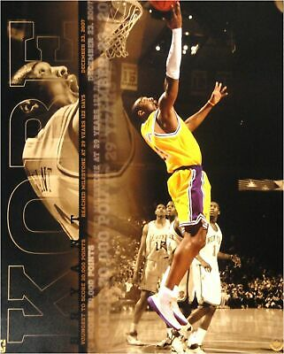 Kobe Bryant UNSIGNED 16x20 Photo Youngest Player Ever to 20,000 Points  UDA