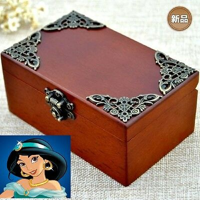 Vintage Wooden Rectangle Music Box ♫  ALADDIN THEME SOUNDTRACK ♫
