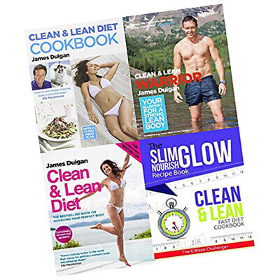 Clean and Lean Fast Diet,Warrior Cookbook 4 Books Collection Set Brand New PB