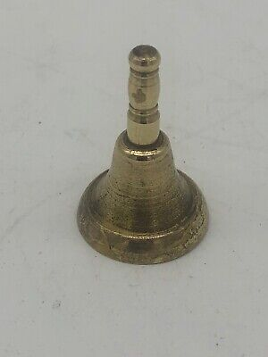 Small Vintage Antique Hand Worked Brass Bell