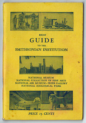 1954 Smithsonian Institution Guide Washington Dc Air Musée Freer Galerie Arts