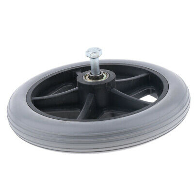 """200mm (6"""") Heavy Duty Gray Rubber Wheelchair Wheel Replacement Front Wheels"""