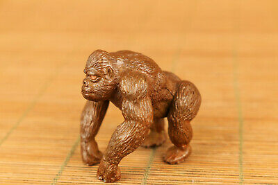 Antique chinese old red copper hand cast orangutan statue figure hand piece gift