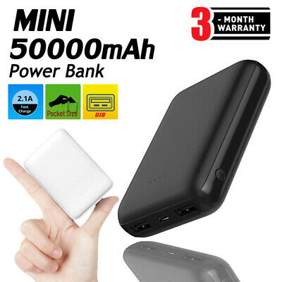 Mini Portable Power Bank 50000mAh Battery Small Size Charger For Mobile Phone US