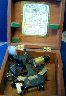 Genuine Beautiful Condition HEATH & CO SEXTANT  7inch dia Dated Cert 1947