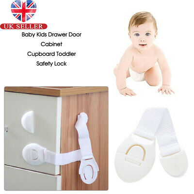 10 Pack Baby Kids Child Cupboard Cabinet Safety Locks Pet Proofing Drawer Fridge