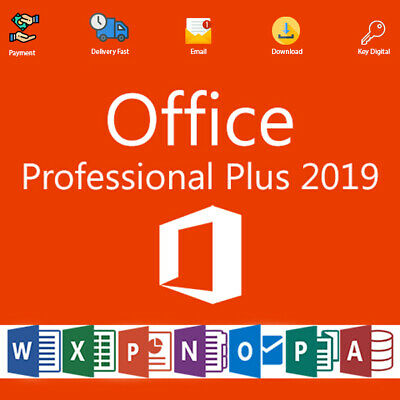 Office 2019 Pro Plus 32-64bit Activation License Genuine  For 1 PC