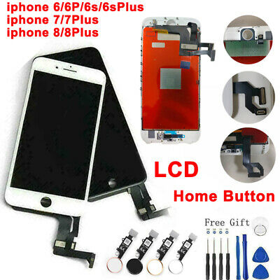 For iPhone 6 6s 7 8 Plus LCD Display Assembly Digitizer Replacement &home button
