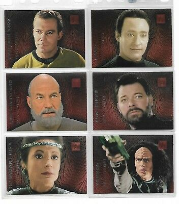 Tradingcards - Star Trek: 30 Years - Phase Two - 6x Sondercards - Doppelgänger