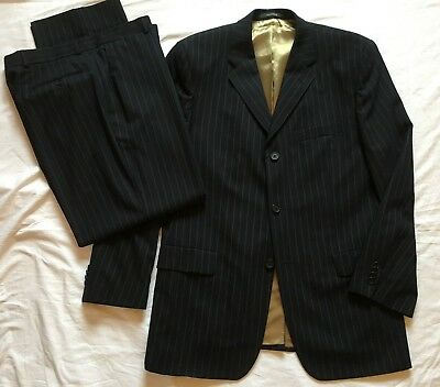 Ted Baker Endurance Mens Wool & Cashmere Black Suit 42R Jkt 36R Trousers