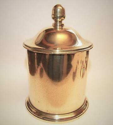Superb Antique Brass Casket Tobacco Jar Box Caddy Canister Georgian Victorian !!