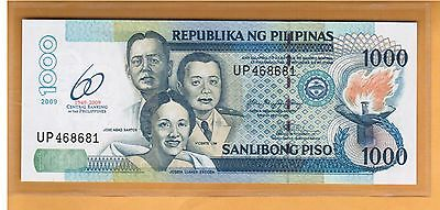 Low Shipping Philippines 500 Piso 2009 P 204 UNC Commemorative 60 Central Bank