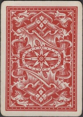 Playing Cards Single Swap Card  Antique US Wide DRAGONS GRIFFINS Dragon Griffin