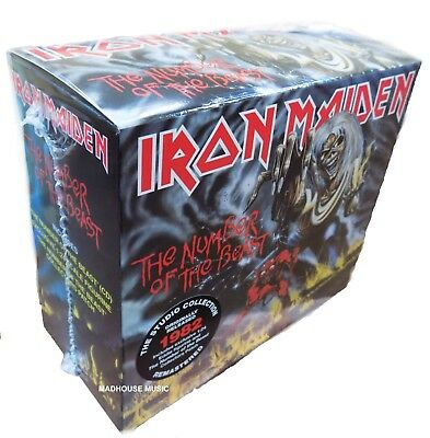 IRON MAIDEN CD BOX The Number Of The Beast EDDIE Figure Figurine +PATCH IN STOCK