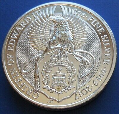 2017 Great Britain Queen's Beast £5 Griffin Of Edward...2 Oz. .9999 Fine Silver