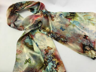 100% New Long Silk Scarf With Free Gift Box/Valentines Day Gift For Her