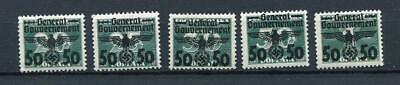 Germany Occ Poland General Government  1940 MNH Mi 35-9 4094