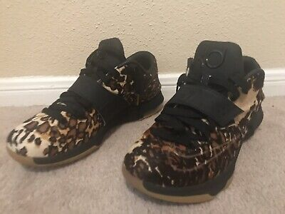 """newest collection 9a631 e4e7c NIKE KD 7 VII EXT QS """"Longhorn State"""" Pony Hair Black/Sail 716654-001 Size  10"""