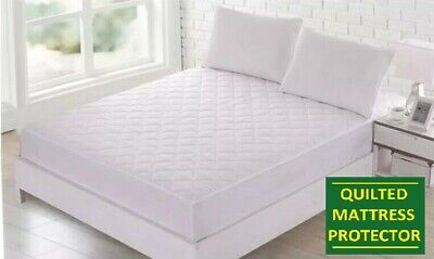 """12"""" EXTRA DEEP QUILTED MATTRESS PROTECTOR FITTED SHEET BED COVER DOUBLE KINGSize"""