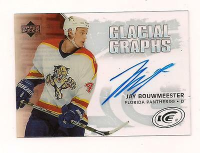 2005/6 Upper Deck Auto Jay Bouwmeester Florida Panthers