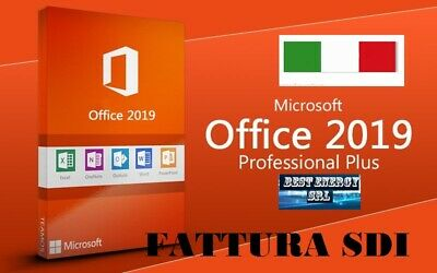 Microsoft Office 2019 Professional Plus Pro 32/64 bit -  - Originale FATTURABILE
