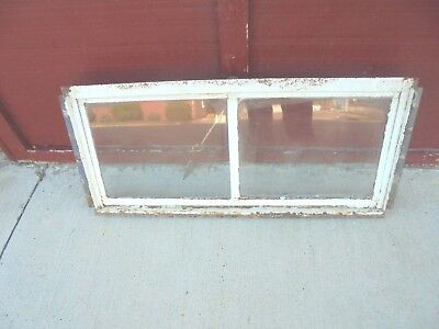 "vintage 2 pane metal framed pull out basement window for opening 32-1/2"" X 14"