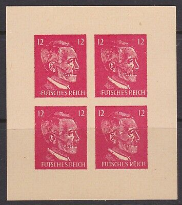 Germany Third Reich Hitler als Totenkopf USA forgeries block of 4 MNH**