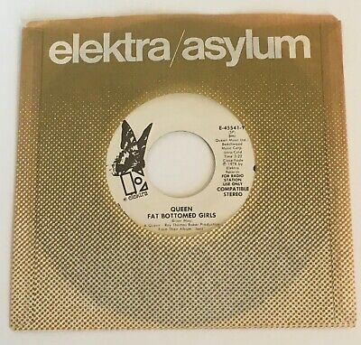 QUEEN / Fat Bottomed Girls & Bicycle Race / 1978 US Promo 45 / Strong VG+++