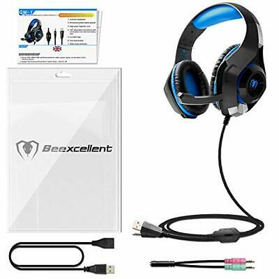 Beexcellent GM-1 Casque Gaming PS4, Casque Gamer avec Micro Premium Anti Bruit