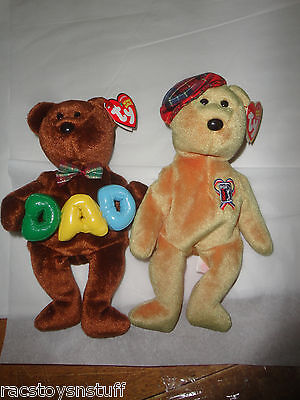 Beanie Babies Pga Charitee, And Dad. Both With Tags,