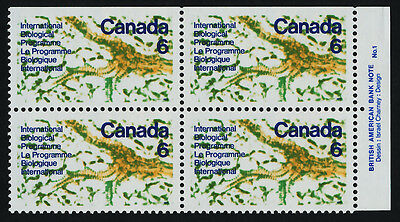 Canada 507 TR Plate Block MNH United Nations Biological Programme