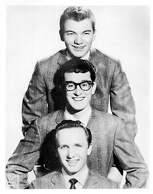 1958 Singer BUDDY HOLLY /& The Crickets Glossy 8x10 Photo Musical Print Poster