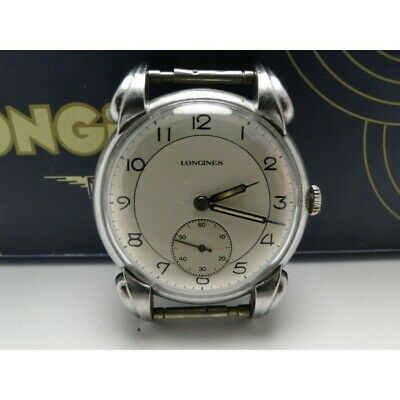 Longines all steel watch swiss made art deco uhr vintage watch with box