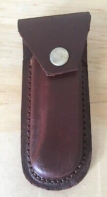 """5"""" Real Leather Sheath Pocket / Folding Knife Case Pouch Holster"""