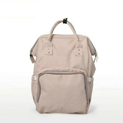 Diaper Bag: No Branding Mommy/Daddy backpack, On-the-go Backpack (Beige)