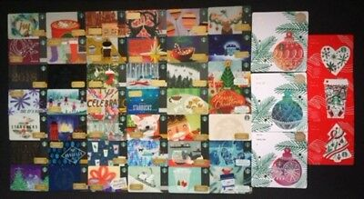 STARBUCKS CANADA SERIES '2017 HOLIDAY CARD SET (52 count)' - BRAND NEW SET