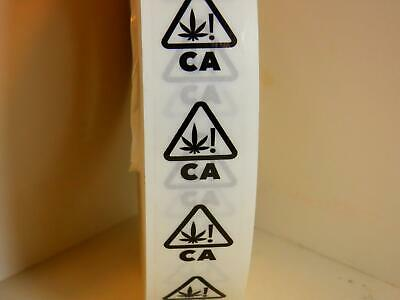 CALIFORNIA UNIVERSAL CANNABIS SYMBOL 1X1.125 Clear Warning Sticker Label 500/rl