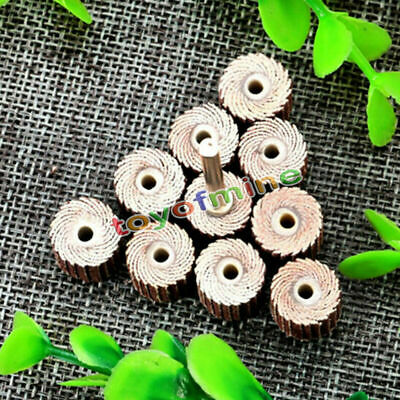 10pcs Flap Wheel Disc Shaft Abrasive Sanding Drill Polish For Dremel Rotary