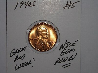 1940 S Bu Lincoln Wheat Penny, Cent, (Retained Cud) Error Coin Lot #5 Gem Unc