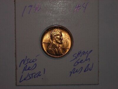 wheat penny 1940 SHARP GEM RED BU 1940-P LINCOLN CENT LOT #4 NICE UNC RED LUSTER