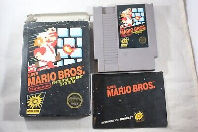 Super Mario Bros HANGTAB (Nintendo NES) Complete in Box GREAT